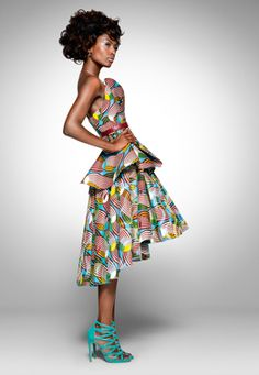 party look from Vlisco ~Latest African Fashion, African women dresses, African Prints, African clothing jackets, skirts, short dresses, African men's fashion, children's fashion, African bags, African shoes ~DK