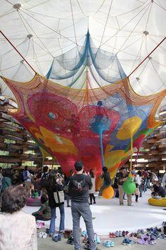 Playground architecture crochet/Toshiko Horiuchi