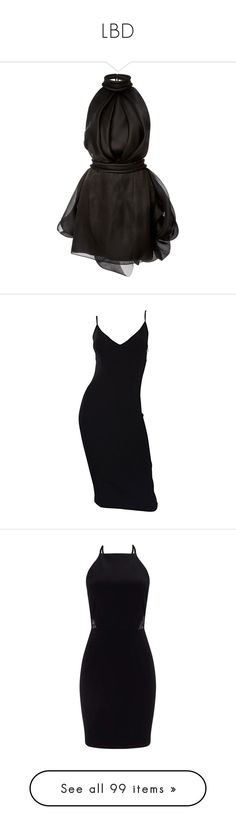 """LBD"" by palewis ❤ liked on Polyvore featuring dresses, vestidos, black, short dresses, pleated dresses, little black halter dress, halter-neck tops, little black dress, pleated mini dress and black dresses"
