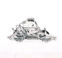 Snowspeeder concept by Ralph McQuarrie
