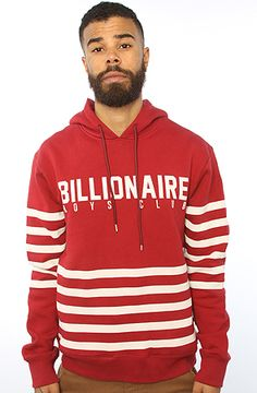 The Ruler Pullover Hoody in Burgundy by Billionaire Boys Club