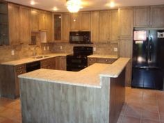 appaloosa stained kitchen cabinets