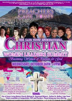 This is a poster designed for the Cape Town International Christian Women Leadership Summit. Contact us to have your own poster designed.  #poster #posterdesign #posterdesigner #affordabledesign #affordableposterdesign #affordablegraphicdesign #design #designer #graphicdesign #graphicdesigner #christ #christian #christianposter #eventposter #womensposter #preachersofdetroit #leadership