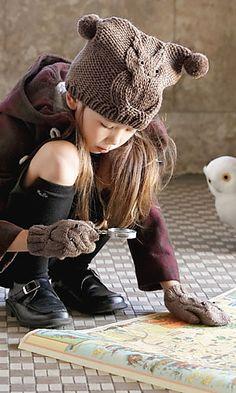 Ravelry: 215w-12 Owl Cap pattern by Pierrot (Gosyo Co., - free knitting pattern Ltd)