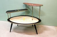 Tafel Fifties plantentafel design zeldzaam mooi
