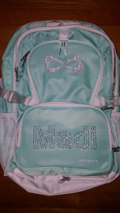 Nfinity Princess Teal Backpack Available at https://www.etsy.com/shop/BlingItByDesign