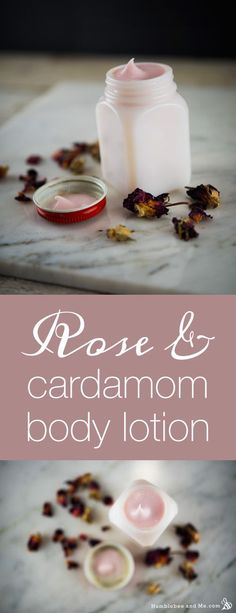 Rose Cardamom Body Lotion Recipe