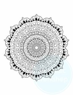 Mandala FREE Coloring Page Pages For Adults Color Therapy Anxiety ReliefMandala