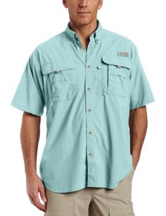 Columbia Mens Bahama II Extended Size Short Sleeve Shirt Gulf Stream XXXXXLarge ** Be sure to check out this awesome product.