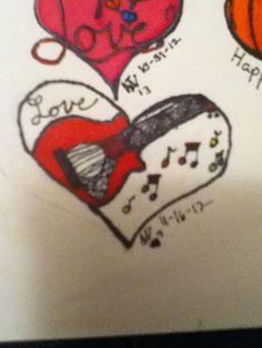 Guitar heart by Abigail Wells