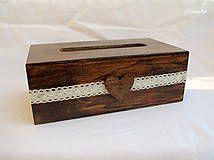 Krabičky - Čoko servítkovník s čipkou - 5229855_