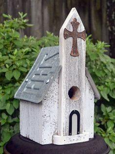 Rustic Birdhouse Primitive Birdhouse Ozark by ruraloriginals