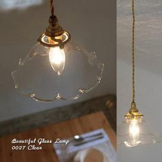 [【Japan madeのガラスシェードセット】0027 フリル(クリア) - SELFISH +NET SHOP+ | おしゃれな照明・天然木の家具・かわいい雑貨 | セルフィッシュ