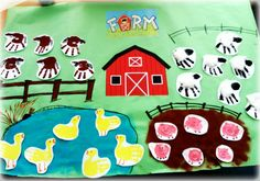 Handprinted farm