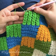 Crochet: punto entrelac trenzado    Cable entrelac crochet stitch!  Video tutorial ✔️