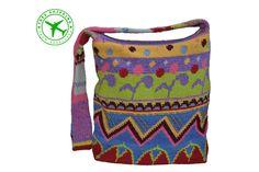 Shoulder bag. Multicolor women's bag. Jacquard crochet bag. Unique handmade bag. Fashion bag. Yarn bag. Summer crochet bag. Free shipping. - pinned by pin4etsy.com