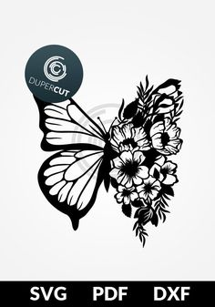 Butterfly Mandala, Butterfly Drawing, Butterfly Flowers, Paper Flowers, Kirigami, Paper Cutting Templates, Cricut Tutorials, Cricut Ideas, Personalized Balloons