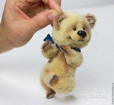 Купить Мишка тедди Репка - желтый, мишка ручной работы, мишка тедди, подарок девушке