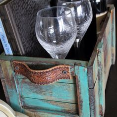 Painted crates.