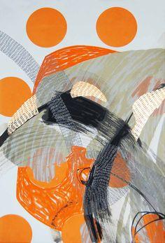 Steph Houstein: Bonescape 91, 2015, silkscreen and mixed media, 38x57cm, u/s