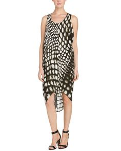 Spotted this Karen Zambos Lucas Crocodile Print Draped High-Low Dress on Rue La La. Shop (quickly!).