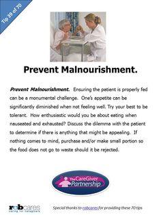 Tip #39 of 70 Tips for Caregivers  http://www.caregiverpartnership.com/