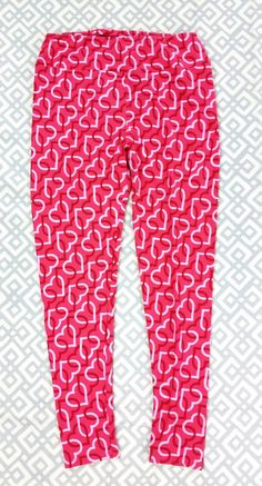 f8022c5578cf8 Lularoe Red Pink Tall & Curvy Heart Print Leggings Womens Love Hearts  Valentines #fashion