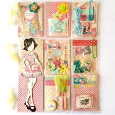 Gingham Prima Doll Julie Nutting Doll Mini Pocket Letter by Jackie Benedict
