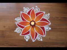 Flower Rangoli Designs with Colours,Rangoli Designs with colours by Shital Daga Easy Rangoli Designs Videos, Easy Rangoli Designs Diwali, Rangoli Simple, Rangoli Designs Latest, Simple Rangoli Designs Images, Rangoli Designs Flower, Free Hand Rangoli Design, Small Rangoli Design, Rangoli Border Designs