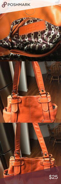 Tignanello orange purse Used Tignanello orange leather handbag, no tears 100% genuine leather, 9x14 Tignanello Bags Shoulder Bags