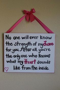 What a sweet saying ! Would be great gift for any new mom
