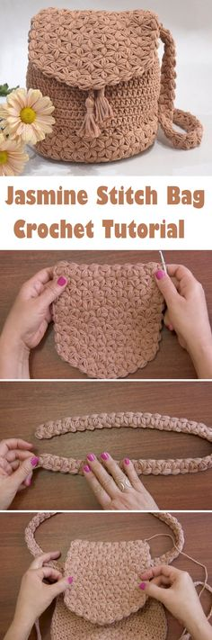 Crochet Jasmine Stitch Bag - Design Peak