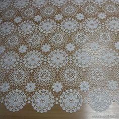 Кружевное полотно макраме (о) айвори ш-95см
