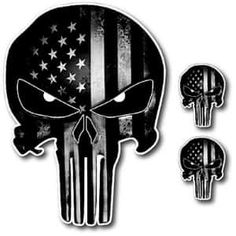 Black and White Punisher Skull American Flag Decals - Jeep Decals Jeep Wrangler Fenders, Jeep Jku, American Flag Decal, Black American Flag, Jeep Hood Decals, Punisher Skull American Flag, Jeep Gear, Jeep Stickers, Skull Stencil