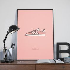Adidas Gazelle Sneaker Print • Sneaker Art • Adidas Sneaker Poster • Adidas Gazelle Poster • Wall Art Print • Living Room Wall Decor Home Decor • • • • • • • • •  https://.etsy.com/shop/NoSweatPrintShop