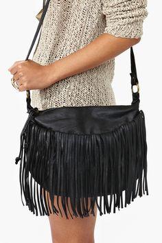 Desert Fringe Bag in Black