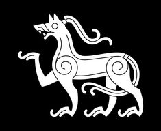 Mammen Style Animal — An animal displaying the characteristic features of the Mammen style (c. Viking Designs, Celtic Designs, Viking Age Art, Viking Woman, Viking Images, Viking Embroidery, Viking Pattern, Symbol Drawing, Viking Reenactment