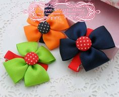 Freeshipping! New Kids/Girl/baby Colorful Bow dots Hair clips/Hair Pins/Hair Accessories/ Kroean Style/Wholesale-in Hair Accessories from Apparel & Accessories on Aliexpress.com