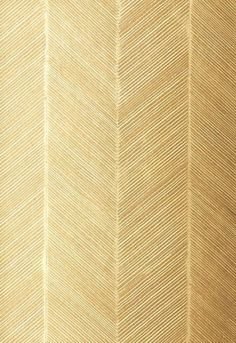 whats not to love about gold herringbone wallpaper  F. Schumacher & Co.