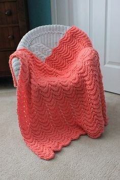 baby blanket. So easy but it looks beautiful and is soft and squishy. CO 144. Row 1: K1, YO, K3, K2tog, K2tog, K3, YO, K1, repeat. Row 2: Purl. Row 3: Knit.