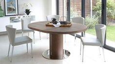 Curva Round Walnut Extending Dining Table £599.00