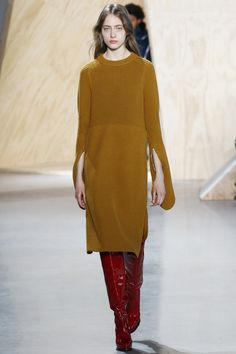 Lacoste, Look #7 couture knit autumn winter 2016 dress inspiration