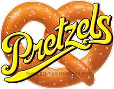 "14"" Pretzels Concession Trailer Fast Snack Food Truck Vinyl Sign Sticker Decal #SolidVisionStudio"