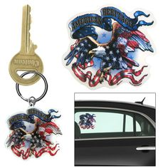 American Heritage Eagle Decal & Keychain at The Veterans Site