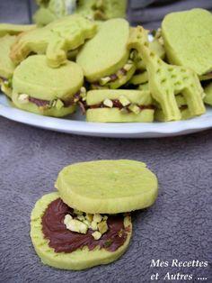 Sablés Pistache/Framboise ou Pistache/Pâte à Tartiner