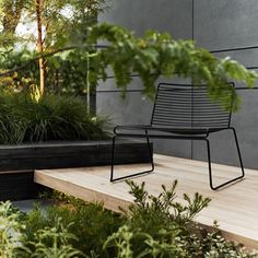Landscaping by Acre Studio, Hee Easy chair from HAY. Photo via cultdesign.co.nz