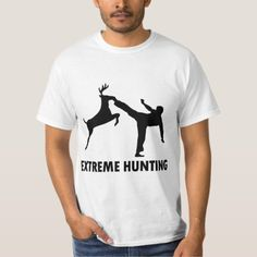 Extreme Hunting Deer Karate Kick T-Shirt - tap, personalize, buy right now!