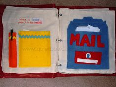 Mailbox quiet book page. The site has a lot of helpful starting out info and some good specific pages