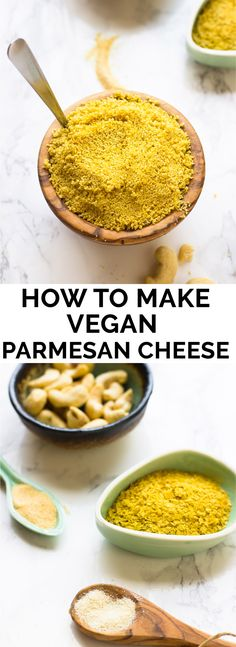 Learn how to make Vegan Parmesan Cheese with just 5 ingredients in just 5 minutes! Quick, easy and tastes AMAZING! via http://jessicainthekitchen.com