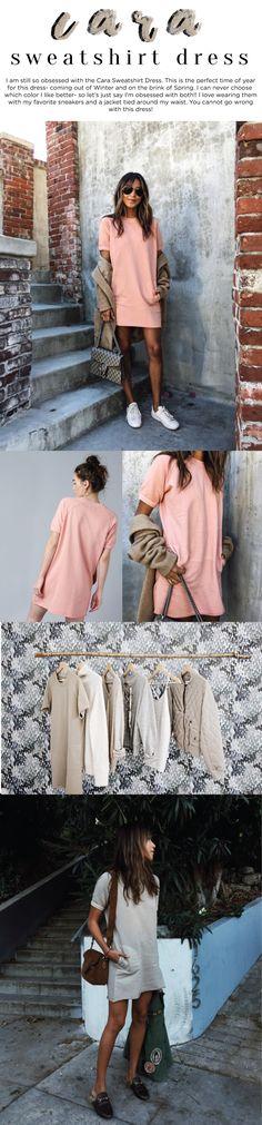 Cara sweatshirt dress pink | Sincerely Jules